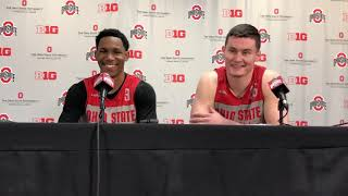Buckeyes C.J. Jackson (left) and Kyle Young on their friendship