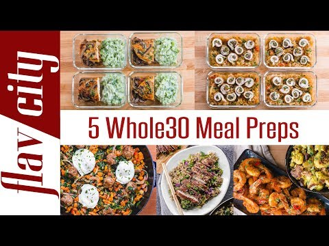 5 Whole30 Meal Prep Recipes - Breakfast, Lunch, And Dinner