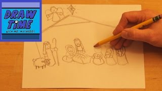 How to Draw a Nativity Scene