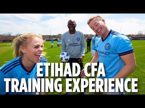 Etihad City Football Academy NY Training Experience   Patrick Vieira Coaches The Media