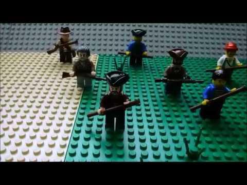 Lego Revolutionary War: Battle Of Lexington (Stop Motion)
