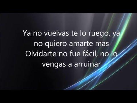 Letra No Vuelvas - Rebeca