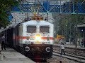 SPEEDING TRAINS on the FASTEST SECTION of INDIAN RAILWAYS