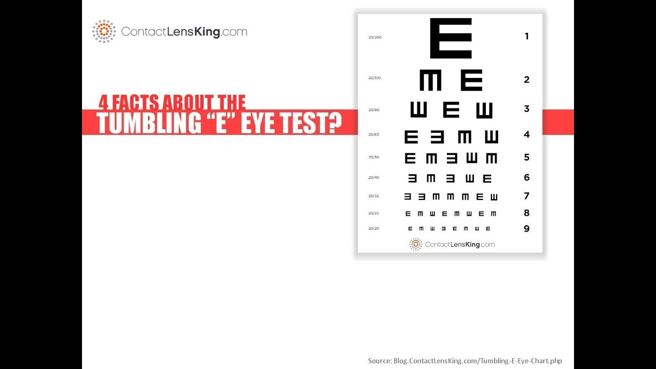 4 Facts About The Tumbling E Eye Chart Youtube