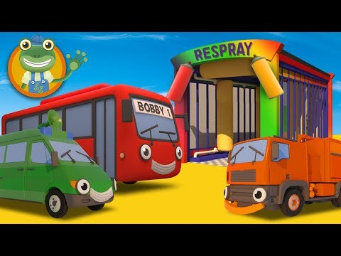 Learn Colors With Big Trucks at Geckos Garage  Car Wash  For Kids