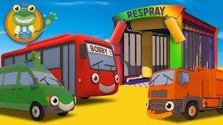 Learn Colors With Big Trucks at Gecko's Garage | Car Wash Video For Kids