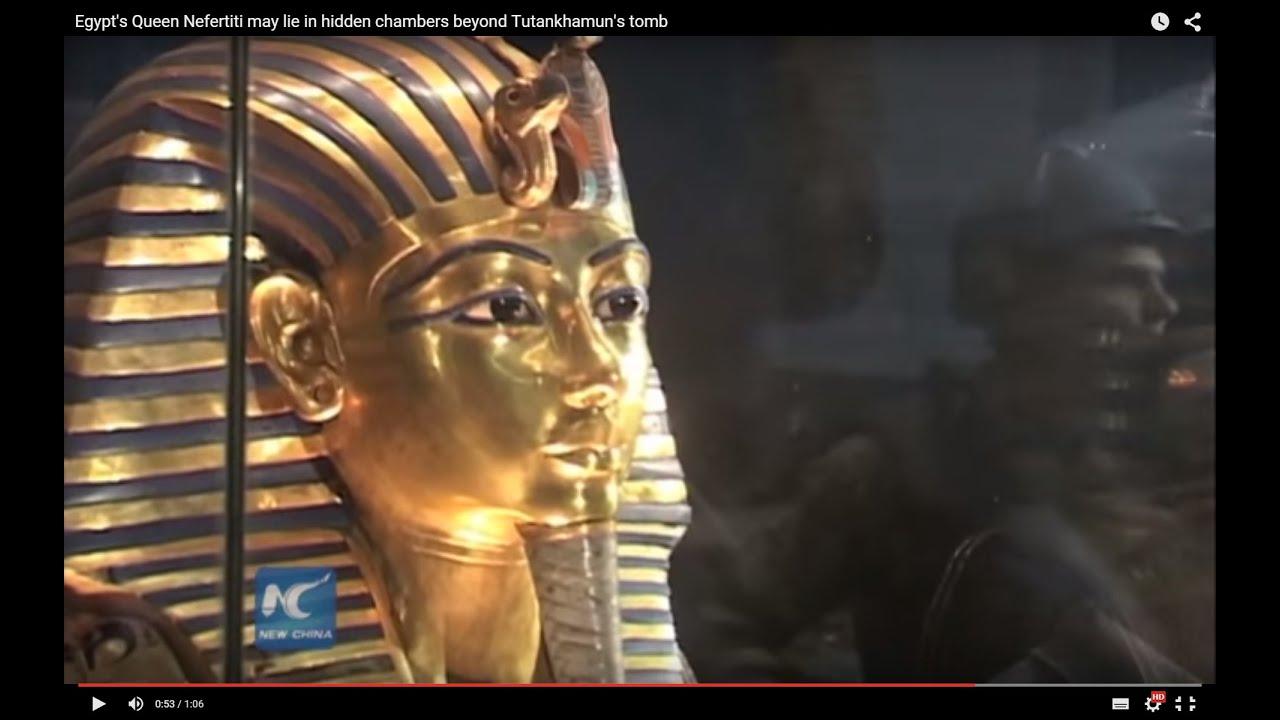 Egypt's Queen Nefertiti may lie in hidden chambers beyond Tutankhamun's tomb