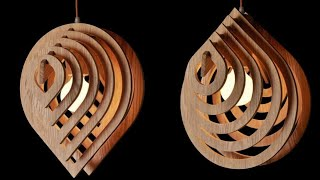 Water Drop Hanging lamp by cardboard || Diy Diwali lanther || Pendant Hanging lamp