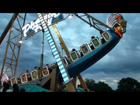 Pharaoh's Fury Ride @ Porterville Carnival Porterville CA - SCARY RIDE! - BRAVE KYLE!