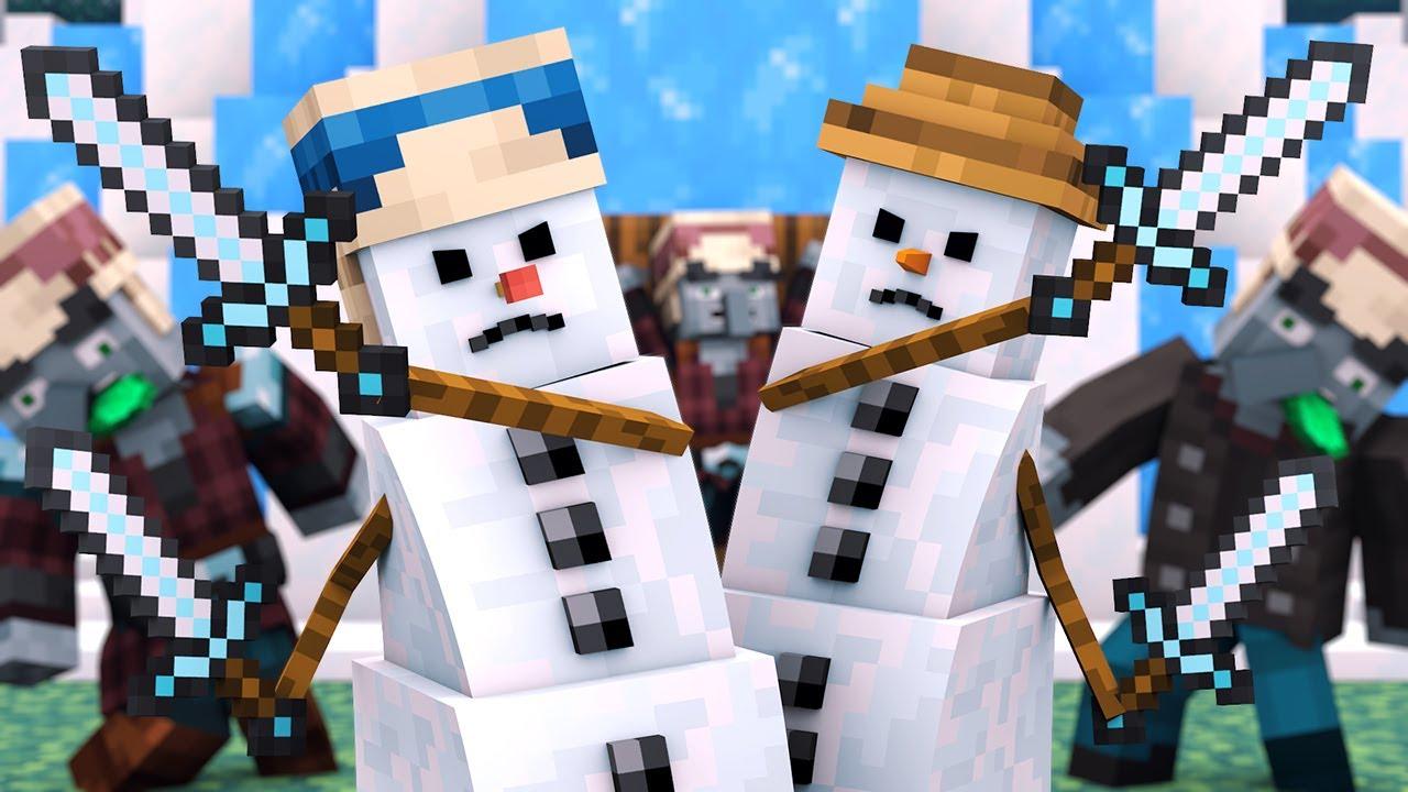 Villager vs Pillager Life Winter War 6 - Alien Being Minecraft Animation