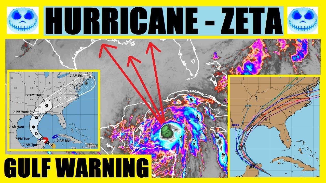 BREAKING Hurricane ZETA UPDATE - GULF Warnings BEGIN! Tropical Storm To Hurricane Status TODAY!