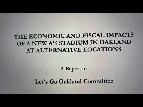 Oakland A's Privately Financed Howard Terminal Ballpark $1 Billion In TIF Revenue Known Since 2010
