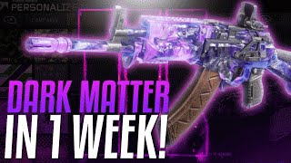 How To Get Dark Matter Camo In 1 Week