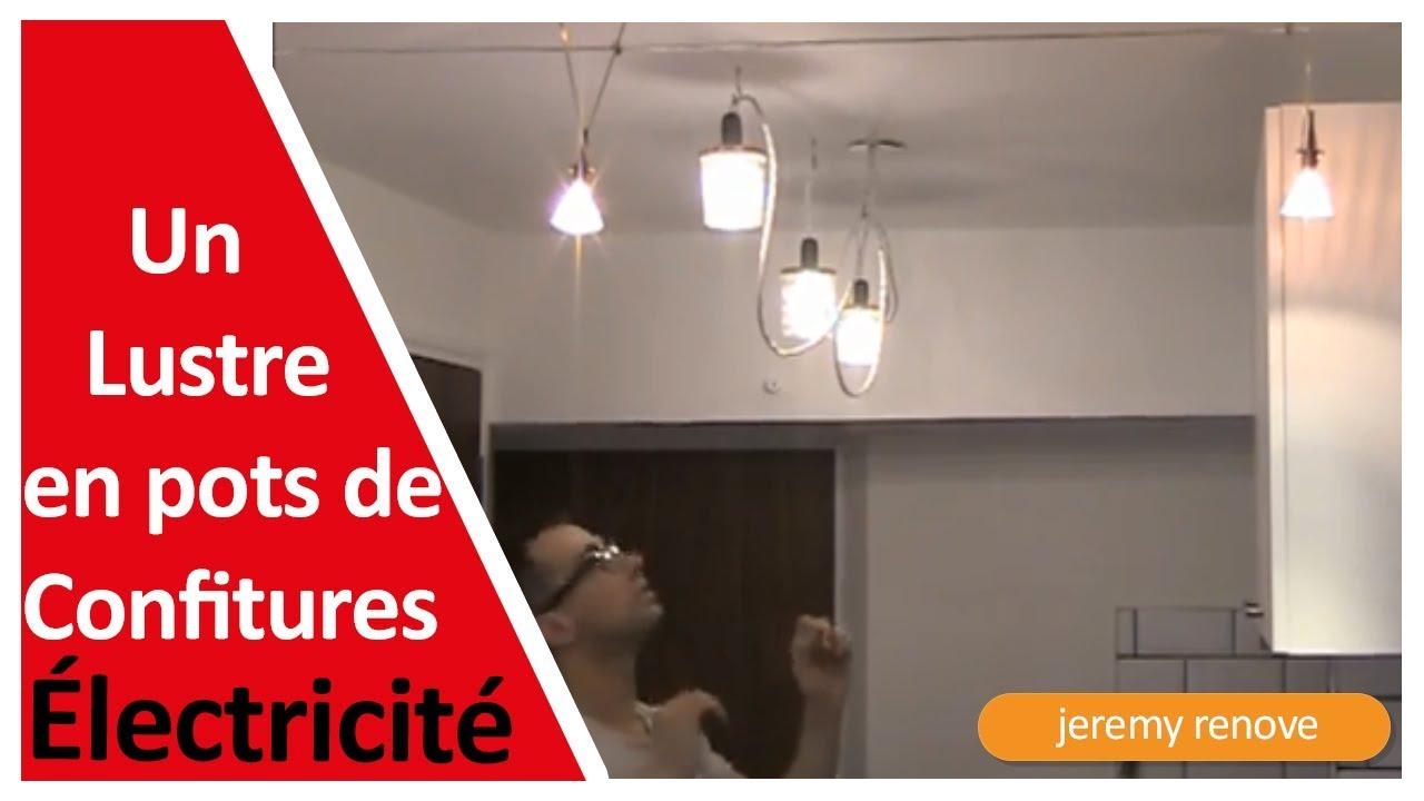 Decoration Faire Un Lustre Design Avec Des Pots De Confiture Youtube