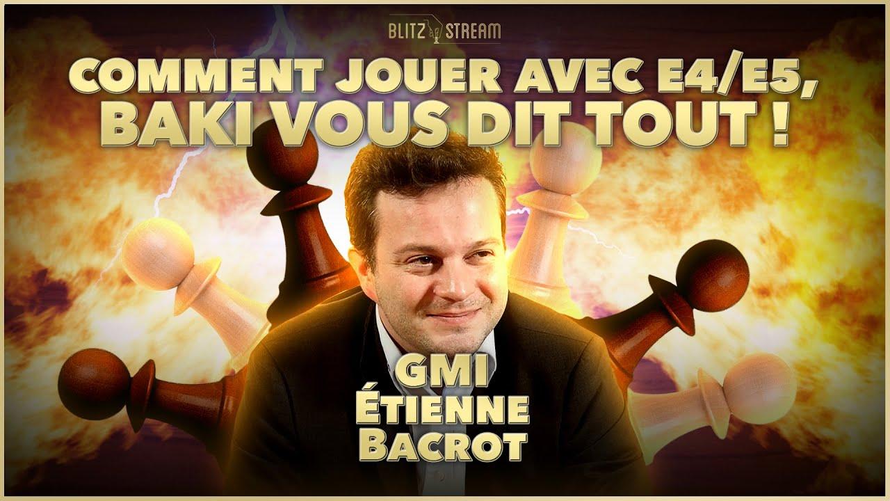 Download Etienne Bacrot explique par la pratique les ouvertures après e4-e5 coté noirs