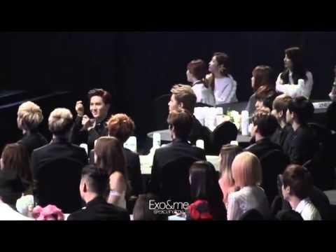 140212 Fancam EXO   During SNSD I got a boy 3 @ 3rd Gaon Awards