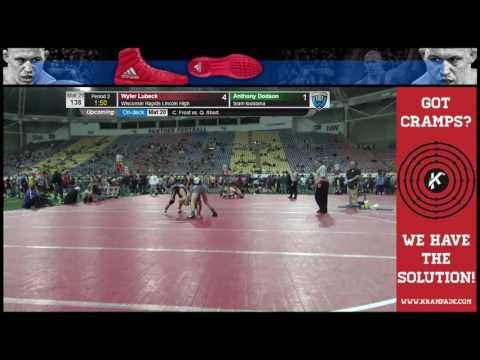 3139 Cadet 138 Mat 21 Wyler Lubeck Wisconsin Rapids Lincoln High vs Anthony Dodson team louisiana mv