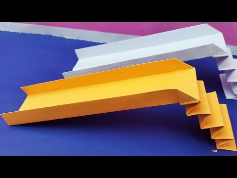 How to make a paper playground slide | Origami slide play for kids - Diy easy tutorial -paper crafts