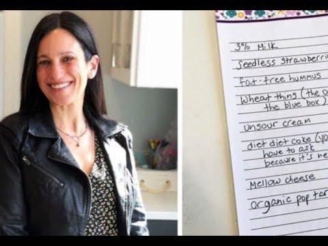 Она решила проучить мужа и дала особенный список покупок