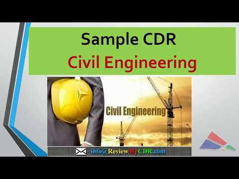 CDR Sample For Civil Engineers For Engineers Australia For Migration Skills Assessment/ @ReviewMyCDR