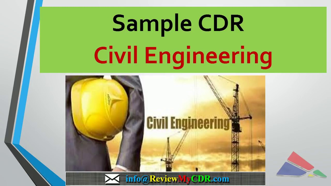 Civil Engineer CDR Sample