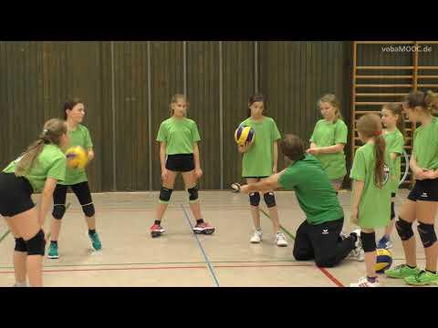 Verschiedene �bungsformen zur Verbesserung des unteren Zuspiels (Bagger) - proWIN Volleys TV Holz