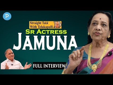 Sr Actress Jamuna Exclusive Interview | Straight Talk with T