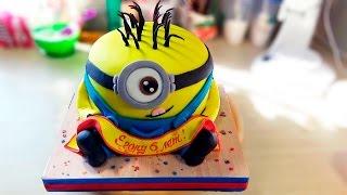 """3д торт """" Миньон"""" / 3D cake """"Minion"""" - Я - ТОРТодел!"""