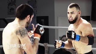 Бой бородатый Тайсон против бойца MMA / Этот нокаут он запомнит надолго / True Gym Fights
