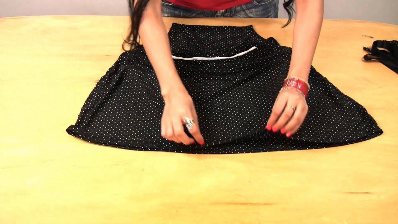 Como hacer un vestido facil de jeans