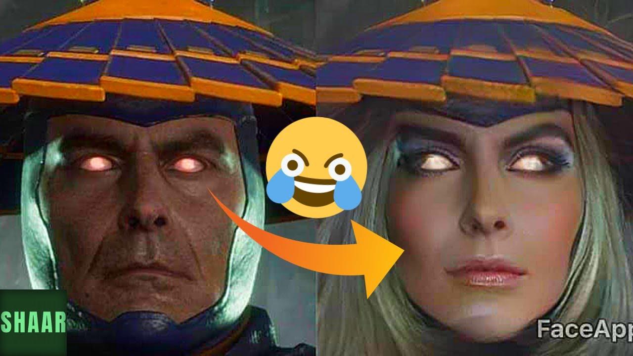 Someone put a gender-bender face swap filter on the Mortal