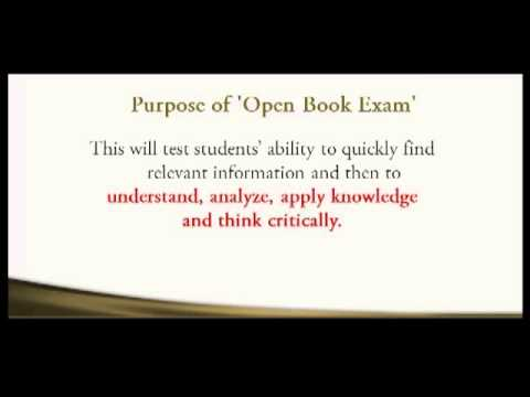 essay on open book examination Experts have found mixed results in the efficacy of open-book exams vs closed-book exams for long-term retention of study materials.