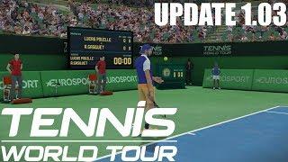 Tennis World Tour - UPDATE 1.03 - Lucas Pouille vs Richard Gasquet PS4 Gameplay