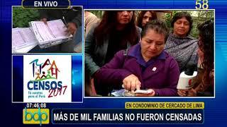 Cercado de Lima: familias de condominio denuncian que no fueron censados