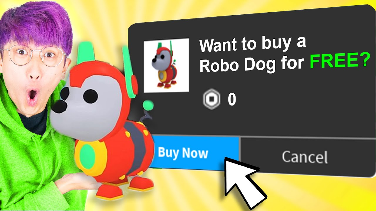 Can We Reveal HOW TO GET A FREE ROBO DOG In ADOPT ME ? (NEW ROBLOX
