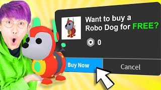 Can We Reveal HOW TO GET A FREE ROBO-DOG In ADOPT ME!? (NEW ROBLOX ADOPT ME ROBOT DOG PETS FOR FREE)