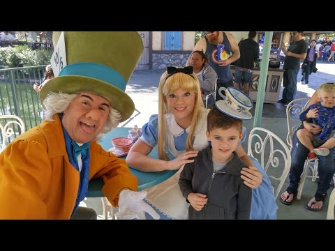 LOGAN AT DISNEYLAND #97 Alice Tea Party First Episode 5 Years Old