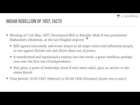 Unacademy UPSC: The revolt of 1857 1.1: Beginnings by Roman Saini