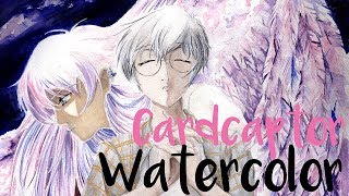 [Watercolor] Yukito and Yue -  Cardcaptor Sakura