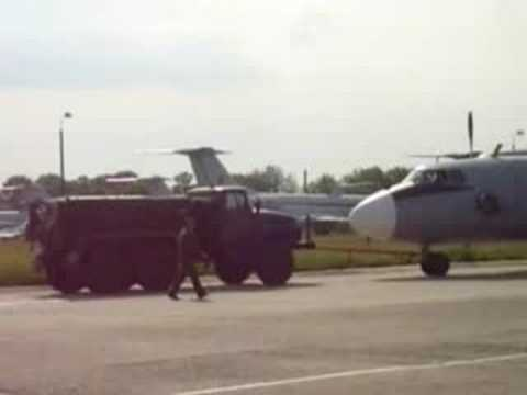 An-26 landing and parking