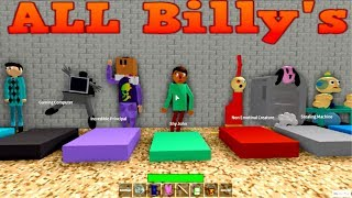 ALL Billy's CHARACTERS in ROBLOX (Baldi's Basics)