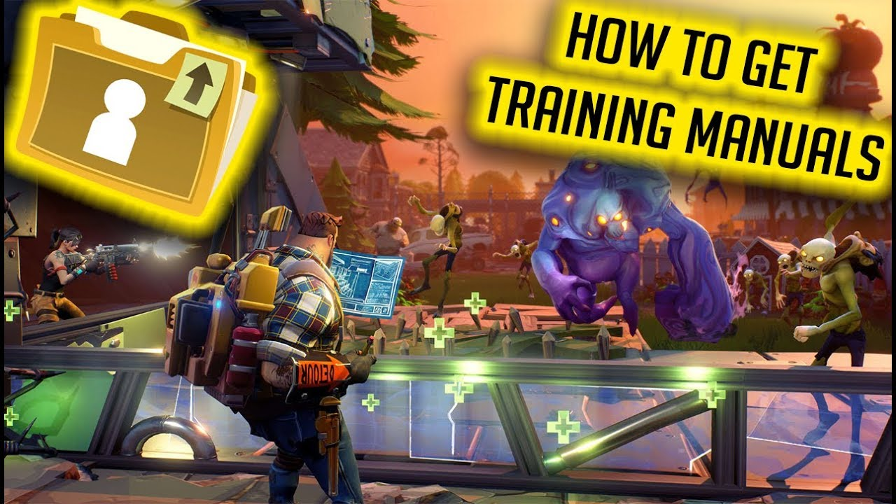 how to get training manuals in fortnite save the world - fortnite save the world training manuals