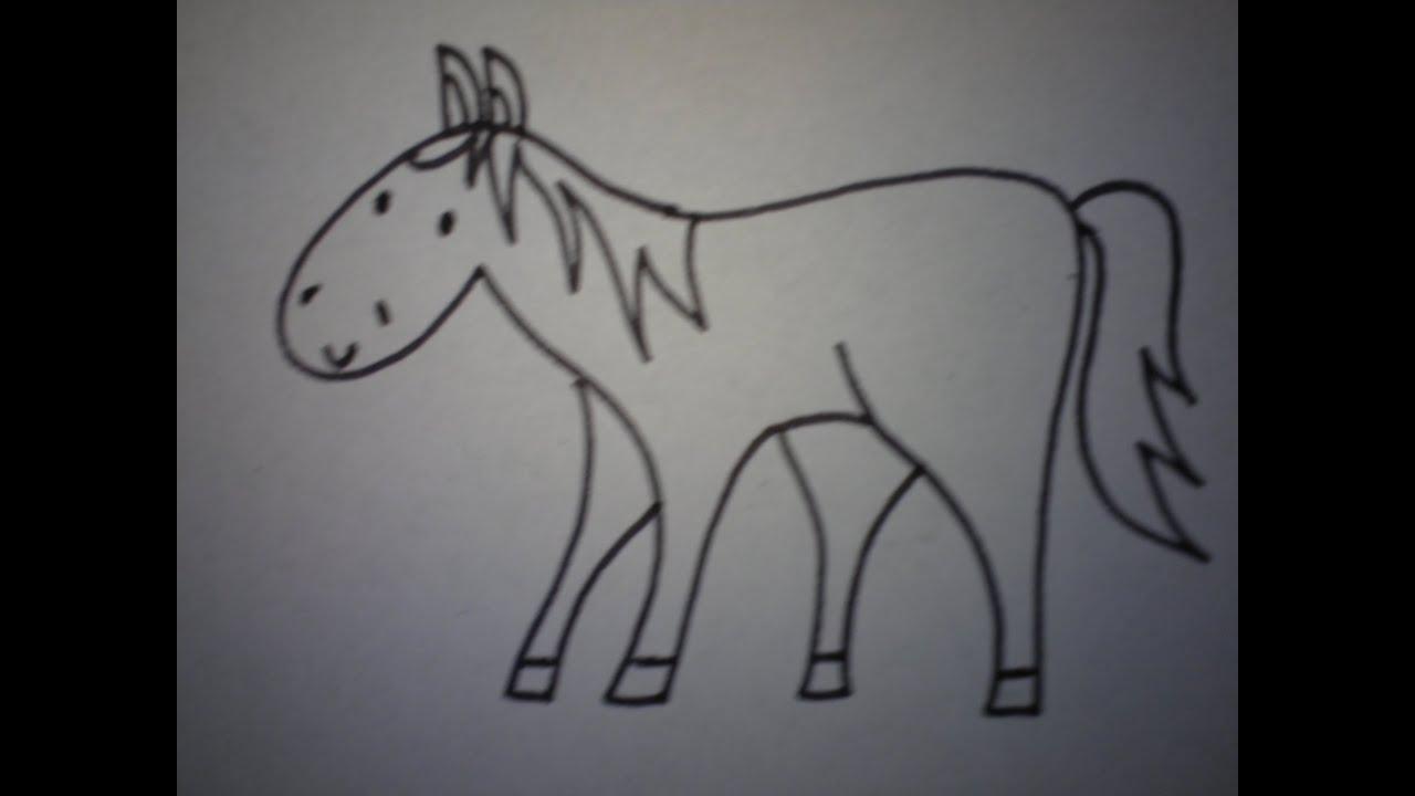 Hoe Teken Je Een Paard Makkelijk How To Draw A Horse