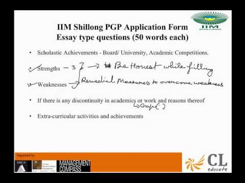 Form Filling IIM Shillong