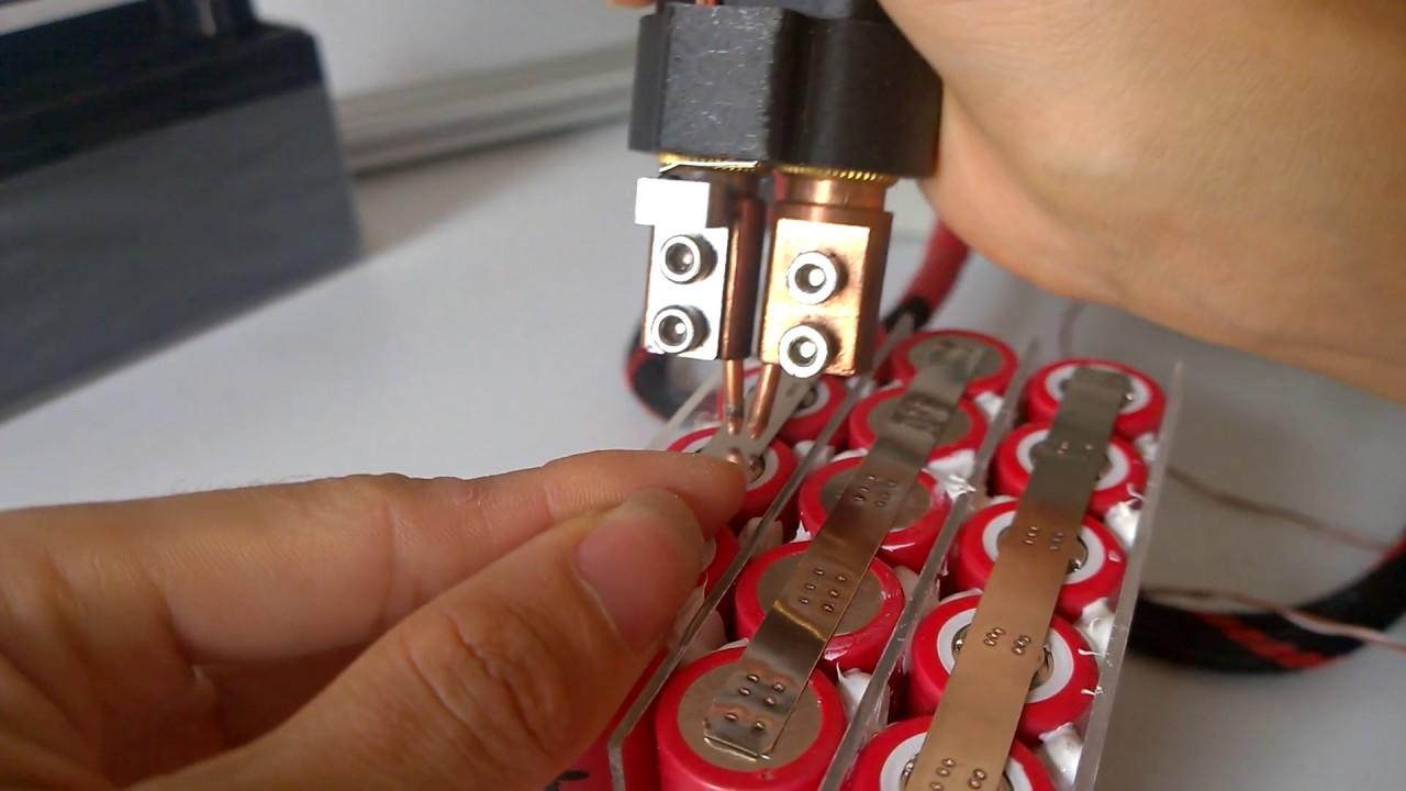 Mini Spot Welder Diy Sanyo 20700a 12 6v Battery Pack Youtube