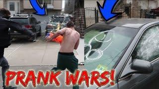 SPRAY PAINTING FRIENDS CAR PRANK! *PRANK WARS*