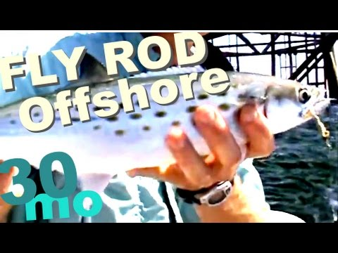 "BOAT FISHING - ""FLY FISHING OFFSHORE"" fishing the offshore oil rigs"