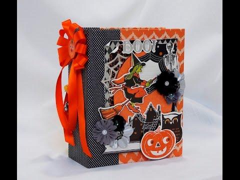 Anna Grifin Halloween Mini Scrapbook Photo Album.