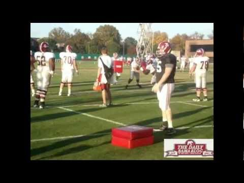 Scott Cochran works with Barrett Jones