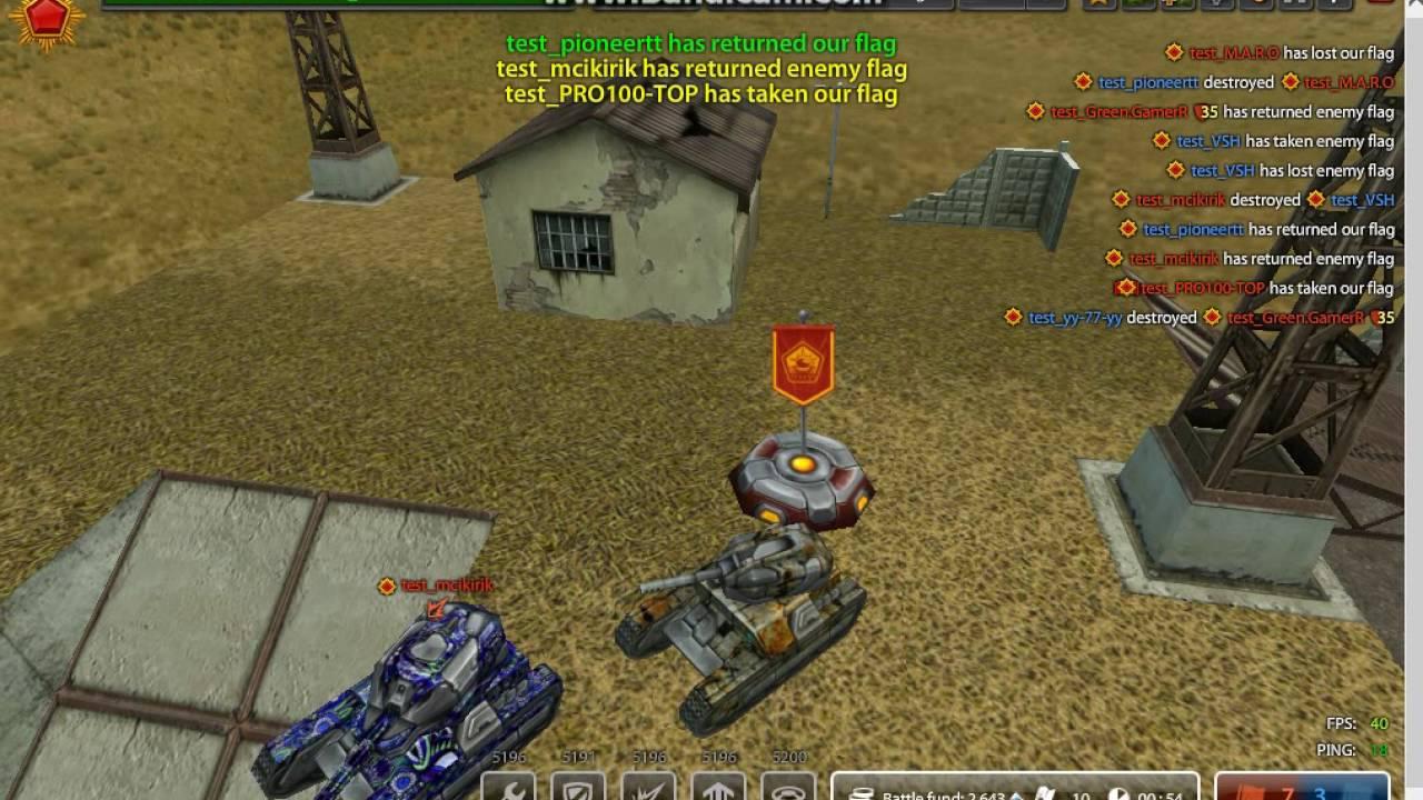 Tanki Online test server gameplay #4 + GOLD BOX - YouTube